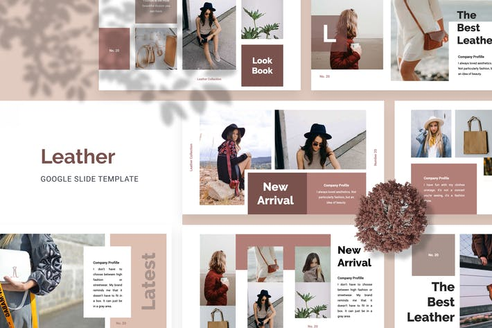 Thumbnail for Leather Google Slide Templates