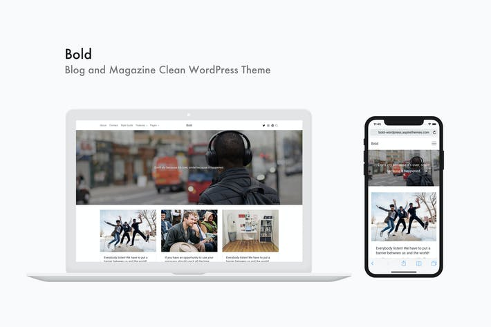 Thumbnail for Bold - Blog and Magazine Clean WordPress Theme