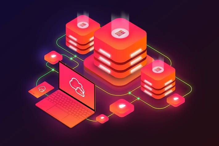 Thumbnail for Isometric Cloud Server Illustration