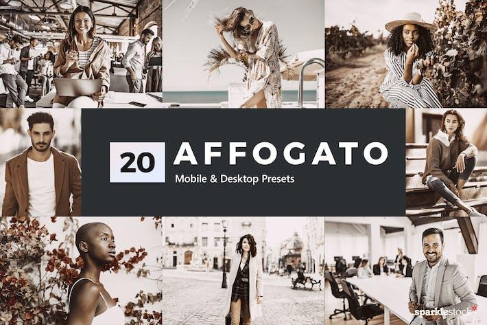 Thumbnail for 20 предустановок и LUTS для освещения Affogato