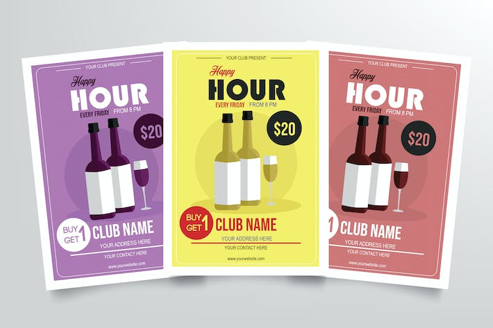 Thumbnail for Happy Hour Flyer Template