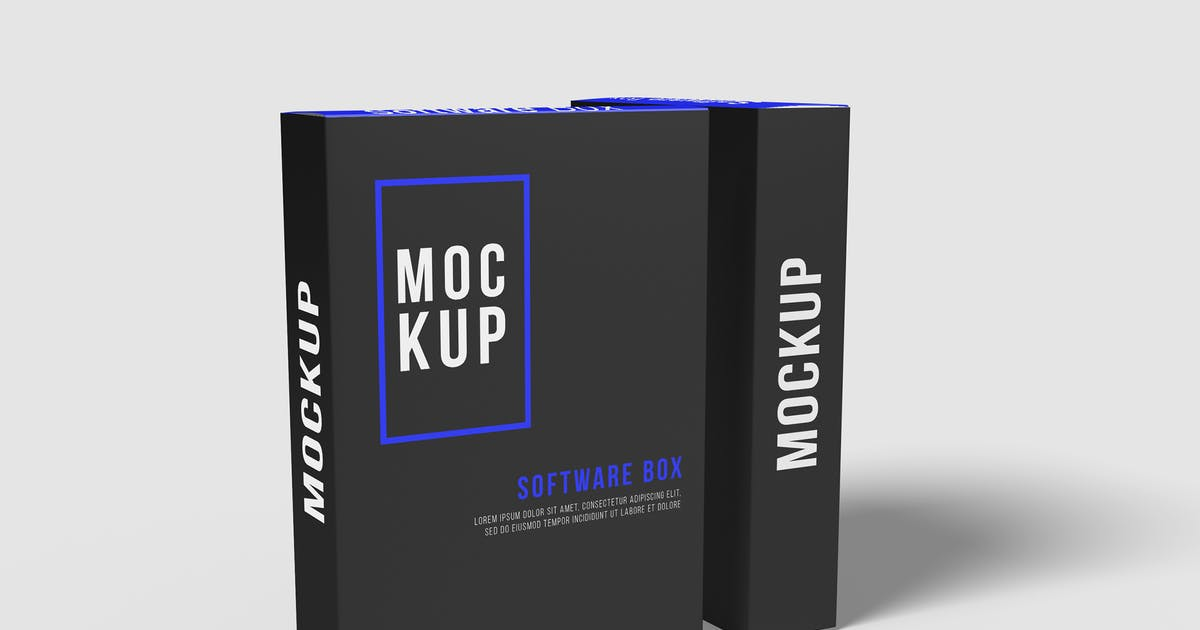 Download Software Box Mockup by indotitas