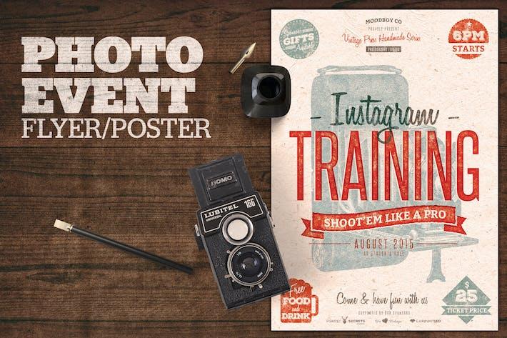 Thumbnail for Photographie (Instagram) Event dépliant Poster