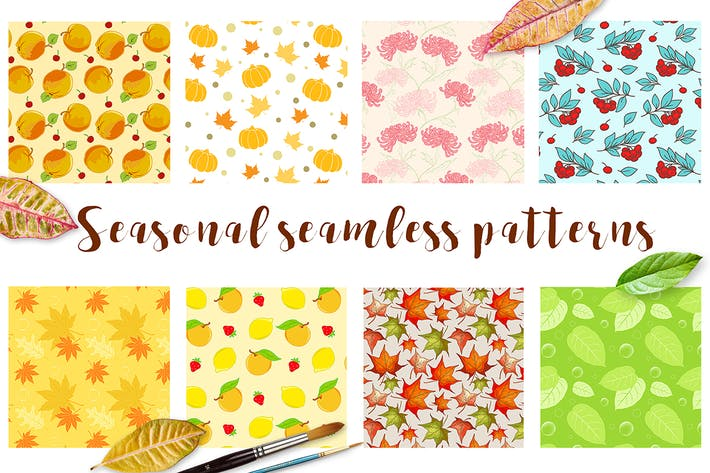 Thumbnail for Seasonal Seamless Patterns