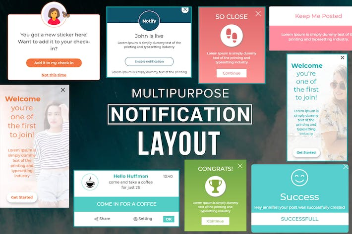 Thumbnail for Multipurpose Notification Layout