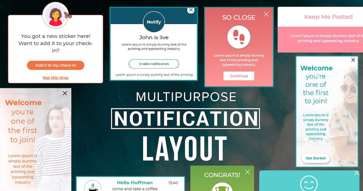 Download Multipurpose Notification Layout by makewebbetter