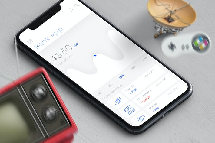 Thumbnail for Bank App Mobile Ui - T