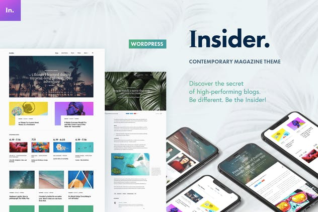 Insider - Contemporary Magazine and Blogging Theme