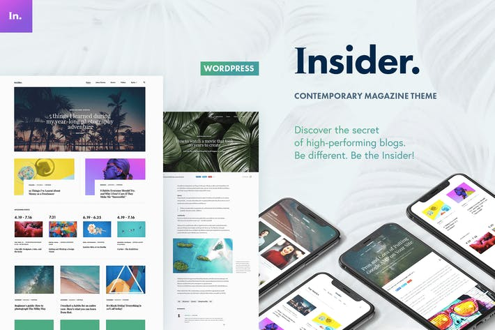 Cover Image For Insider - Contemporary Magazine and Blogging Theme