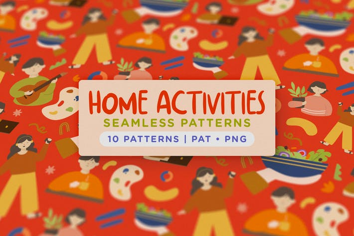Thumbnail for Home Activity Seamless Patterns