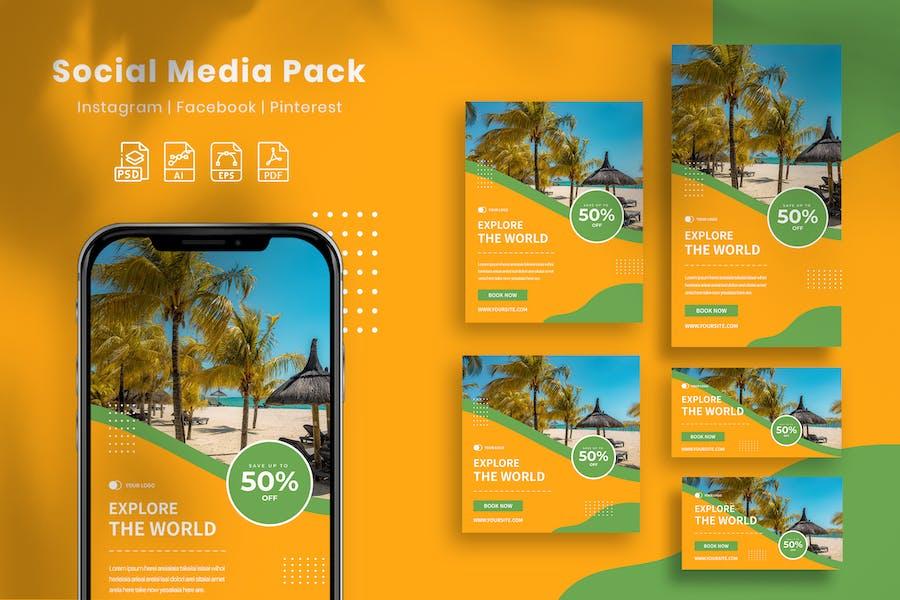 Explore The World - Social Media Pack
