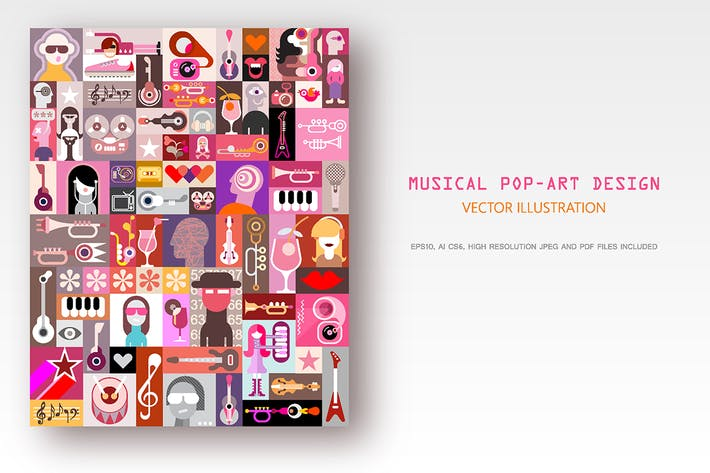 Thumbnail for Musical Pop-Art Design