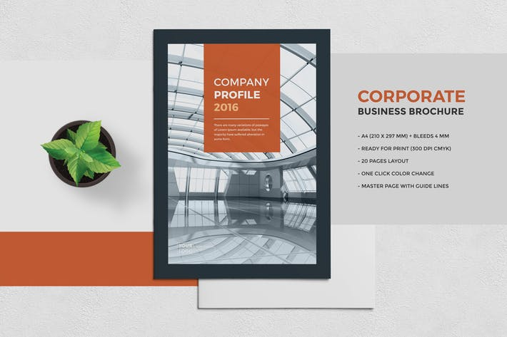 Thumbnail for Corporate Business Brochure 20 Pages