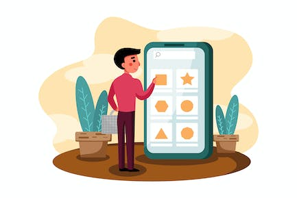 Browsing Item vector illustration concept