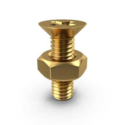 Gold Bolt with Nut