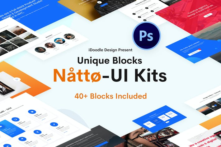 Cover Image For Natto Creative UI Kits PSD Template