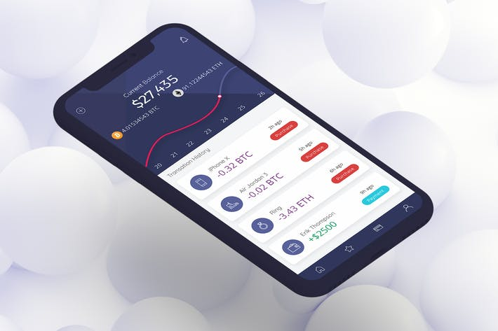 Thumbnail for Cryptocurrency Wallet 5 Mobile Ui - H
