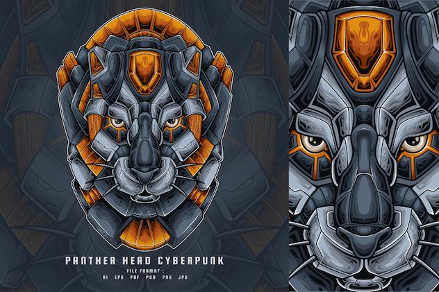 Panther Head Cyberpunk