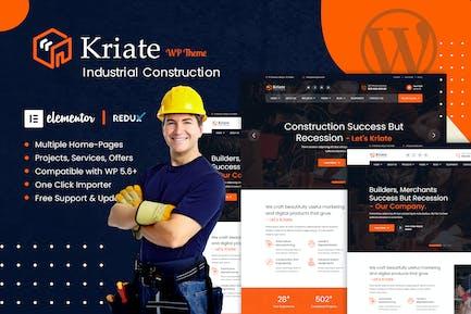 Kriate - Industrial Construction WordPress Theme
