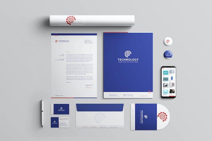 Thumbnail for Technology Branding Identity & Stationery Pack