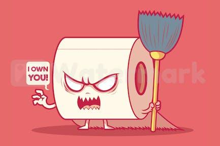 Toilettenpapierrolle