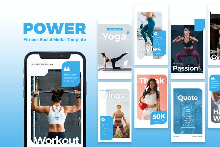 Thumbnail for Power - Fitness Instagram Story Template