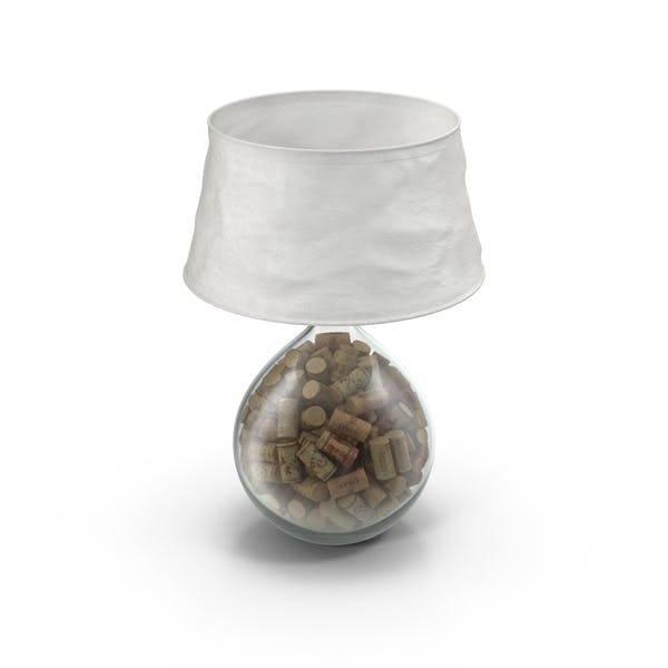 Lamp Filled With Cork