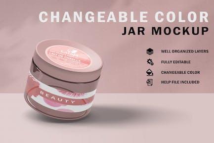 Cosmetic Jar Mockup V.1