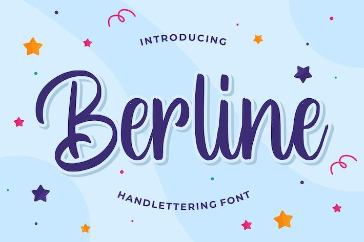 Thumbnail for Berline - Handlettering Font