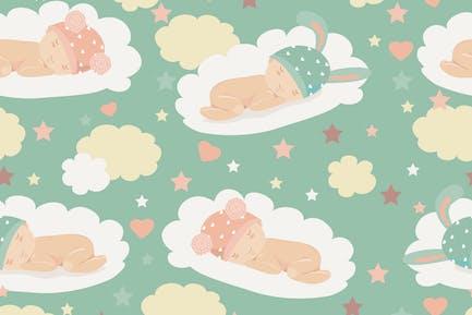 Baby theme seamless pattern