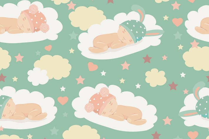 Thumbnail for Baby theme seamless pattern