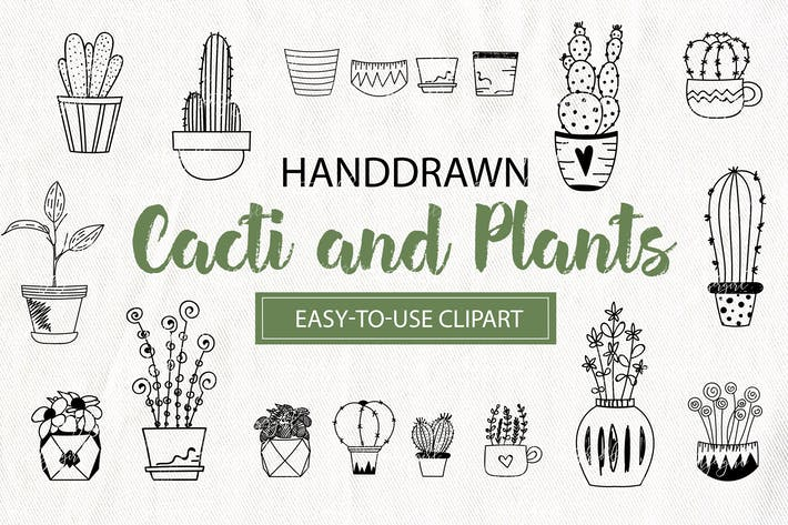 Thumbnail for Cacti and Plants Clipart