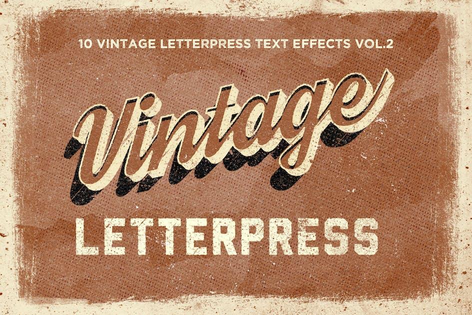 Download Vintage Letterpress Text Effects Vol. 2 by HyperPix