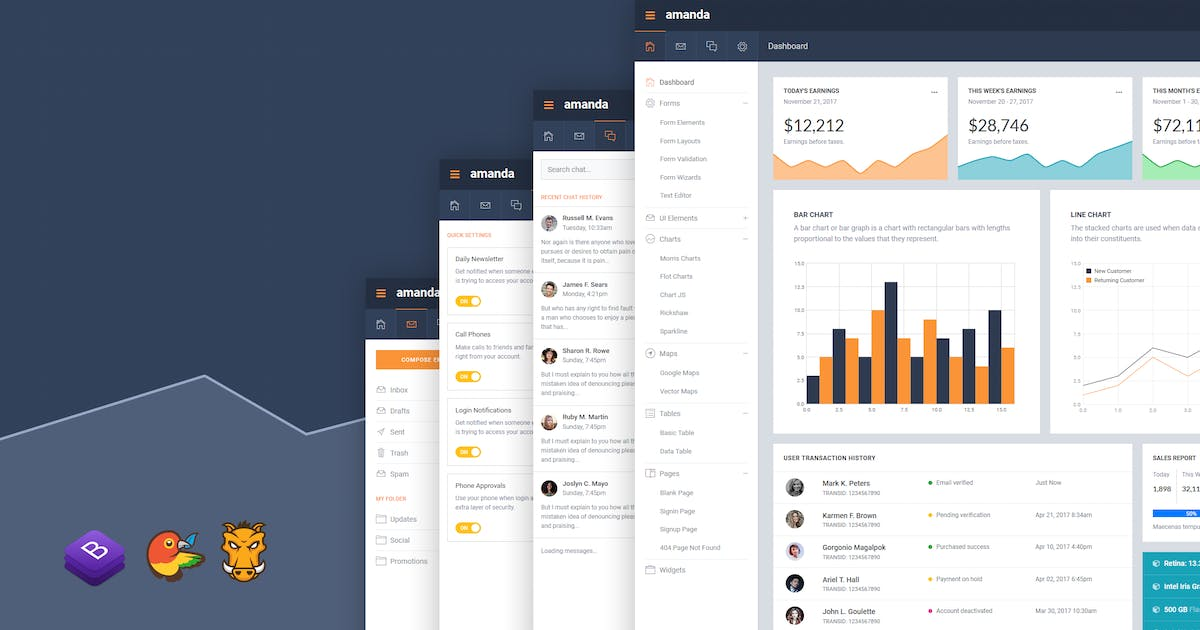 Download Amanda Responsive Bootstrap 4 Admin Template by themepixels
