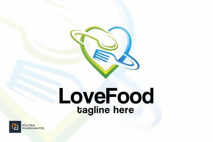 Thumbnail for Love Food - Logo Template
