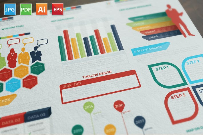 Thumbnail for Present Infographics Elements Design