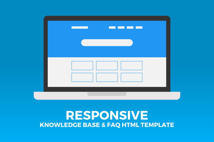 Thumbnail for Responsive Knowledge Base & FAQ HTML Template