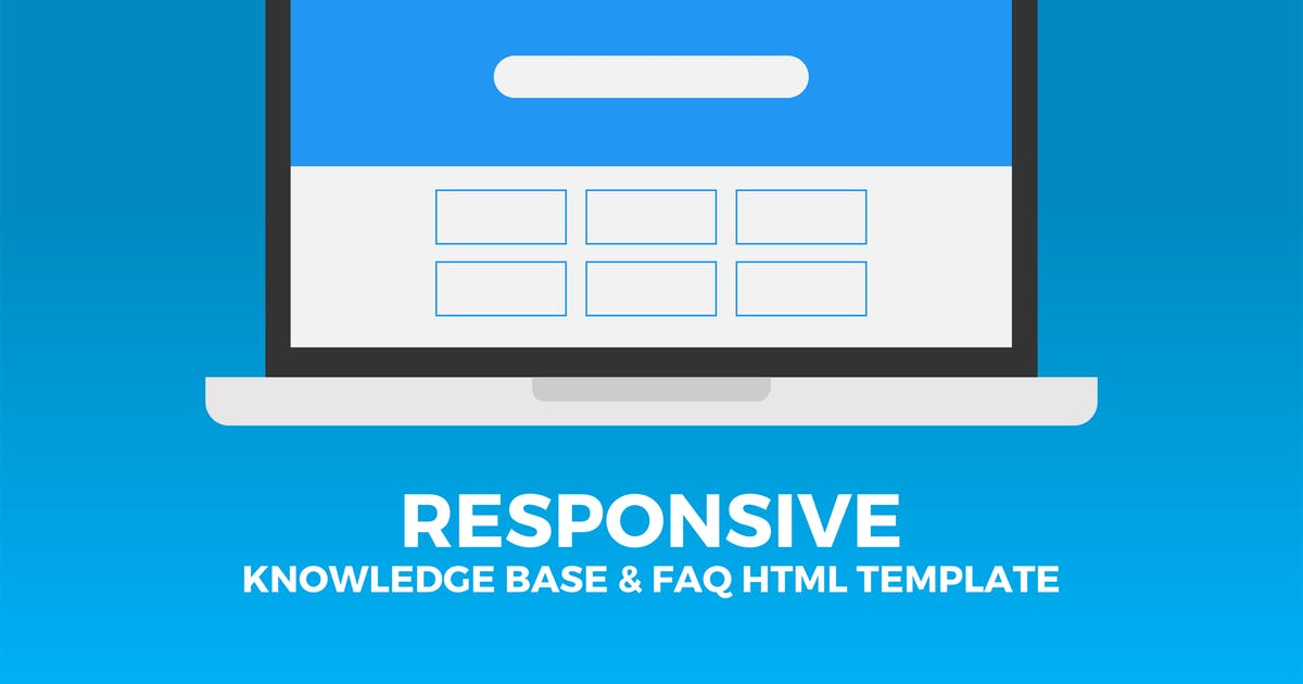 Download Responsive Knowledge Base & FAQ HTML Template by PressApps