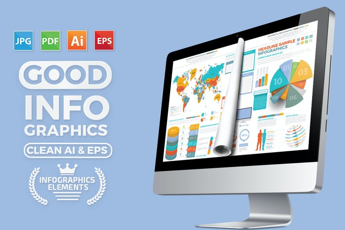 Thumbnail for Infographics Elements Template Design