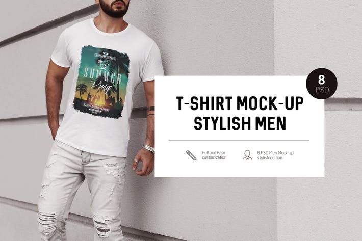 Thumbnail for T-Shirt Mock-Up Stylish Men