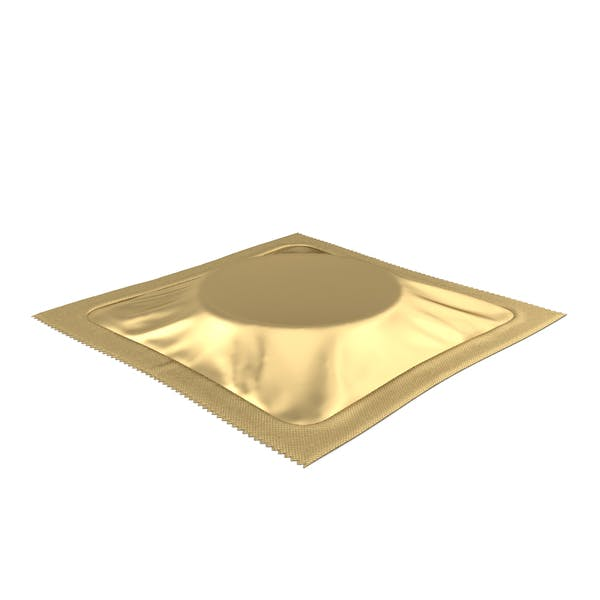 Square Condom Packaging Gold