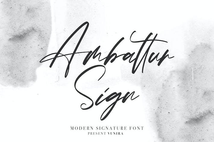 Thumbnail for Ambattur Sign | Modern Signature Font