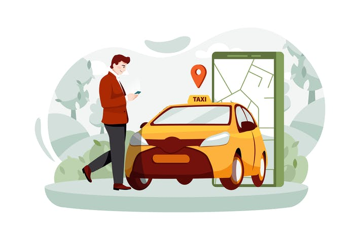 Thumbnail for A man with a smartphone standing near the car