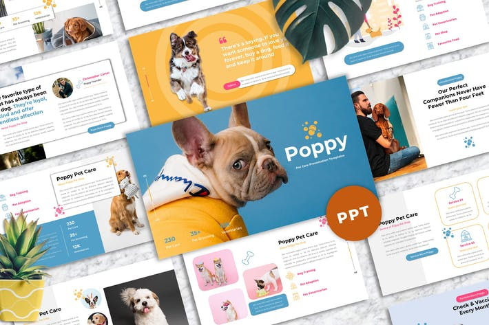 Poppy - Pet Care Powerpoint Templates