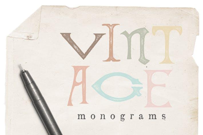 Thumbnail for Vintage Monogram Vectors