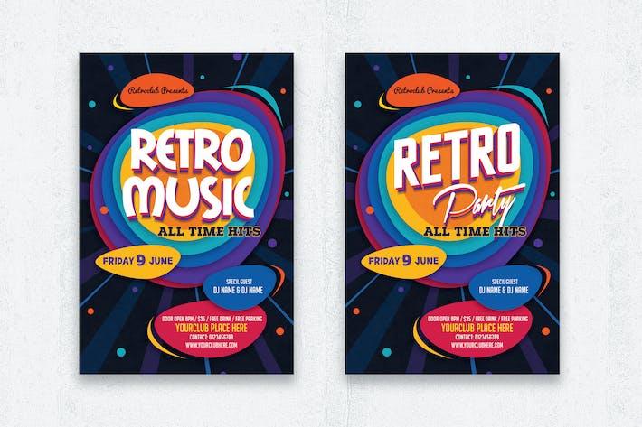 Retro-Musik/Retro-Party-Flyer