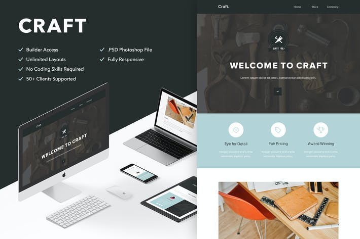 Thumbnail for Craft - Responsive Email + Themebuilder Access