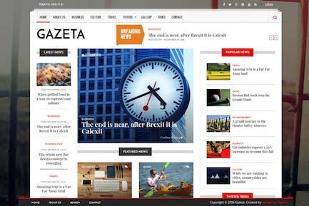 Gazeta - Noticias y Revista Drupal 8 Tema