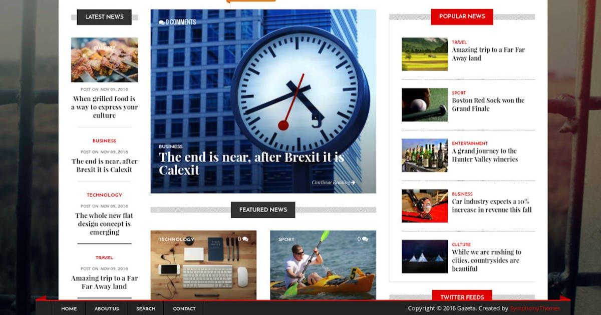 Download Gazeta - News & Magazine Drupal 8 Theme by symphonythemes