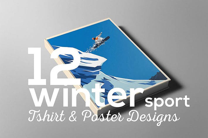 Thumbnail for Winter Sport Poster T-shirt Set